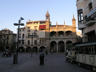 Plaza Major at Plasencia