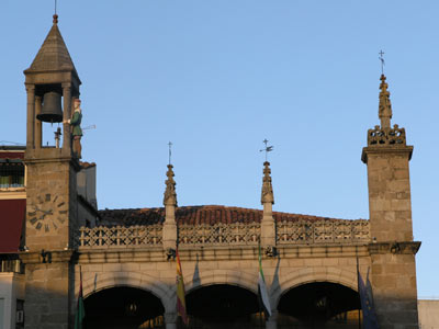 Town clock at Plasencia