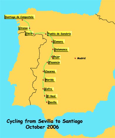 Via de la Plata Cycle Route Map